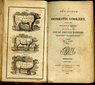 A New System of Domestic Cookery Formed Upon Principles of Economy and Adapted to the Use of Private Families Throughout the United States