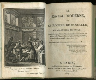 Le Caveau Moderne, ou le Rocher de Cancalle, Chansonnier de Table