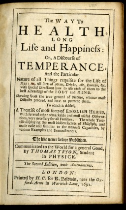 The Way to Health, Long Life and Happiness; or, A Discourse of Temperance
