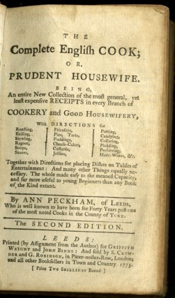 The Complete English Cook or Prudent Housewife