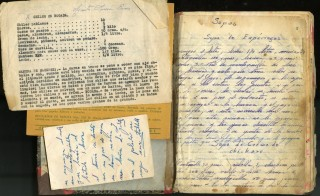 Mid 20th century Mexican Manuscript Cookbook