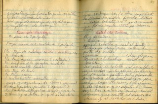 Early 20th century Manuscript Cookbook
