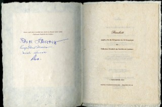 Archive of Signed Menus late mid to late 20th century