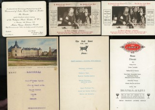 Collection of Mid Century Menus and Related Correspondence - Most from the Savoy London. anon