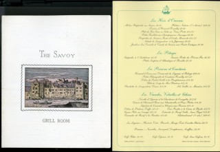 Collection of Mid Century Menus and Related Correspondence - Most from the Savoy London