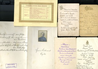 Large Archive of Menus and Related Documents from Europe, late 19th and Late 20th Century. anon