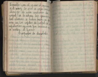 Early 20th Century Mexican Manuscript Cookbook
