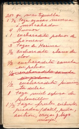 Mid Century Mexican Manuscript Cookbook. anon