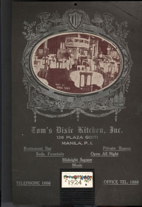 Tom's Dixie Kitchen, Manila.: Display Board and Calendar