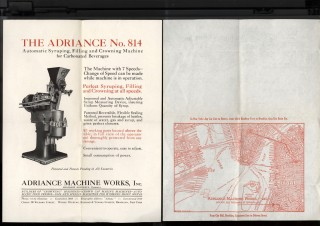 Adriance Machine Works Ephemera: Automatic Syruping, Filling and Crowning Machine for Carbonated...