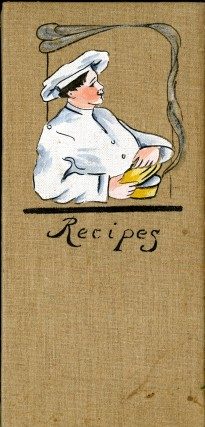 Recipes [clothbound folder with bound in envelopes]. anon