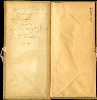 Recipes [clothbound folder with bound in envelopes]
